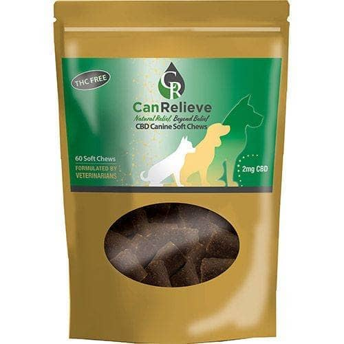 CBD Canine Soft Chews 60 Count Bag CanRelieve